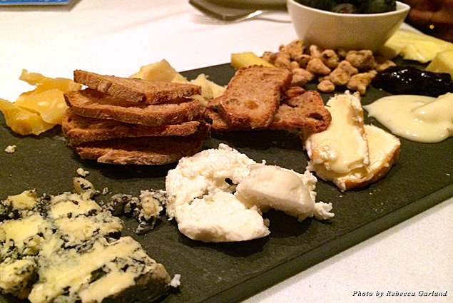 Cheese plate and accompaniments