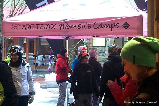 Gathering place for the Arc'teryx Women's Camp