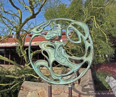 Wind sculpture at Taliesin West