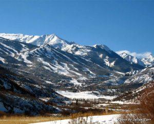 The mountain range in Snowmass, Colorado