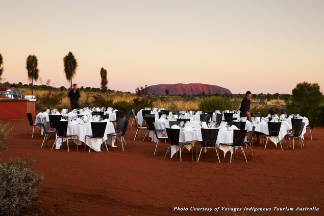 BBQ under the stars at the Sounds of Silence dinner