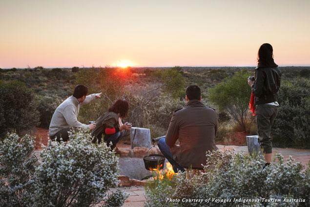 Sunrise over Uluru at the Desert Awakenings Tour