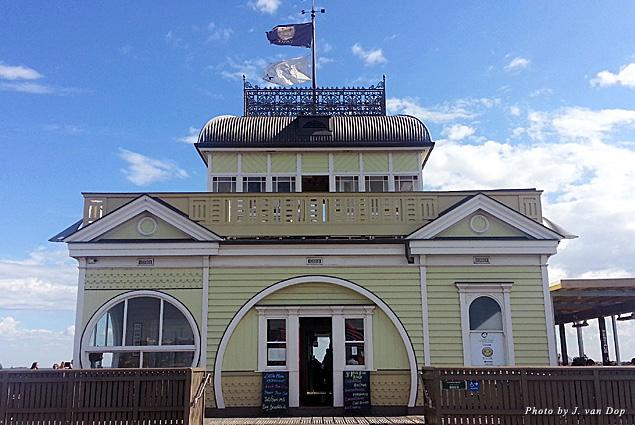 The pier at St. Kilda Beach in Melbourne, Australia