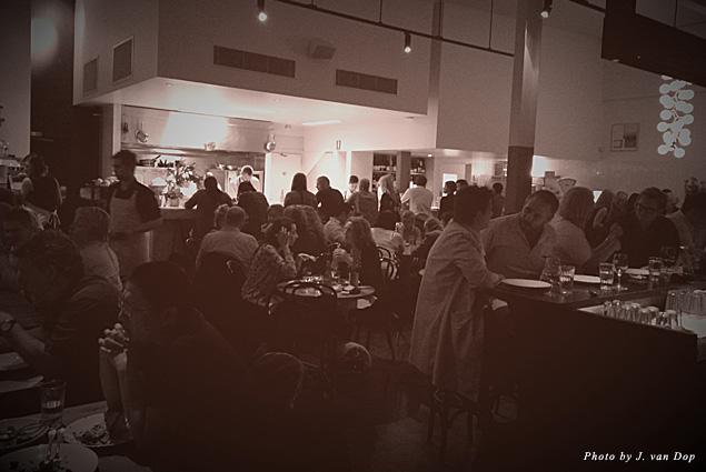 The vibrant scene at Cumulus Restaurant in Melbourne, Australia