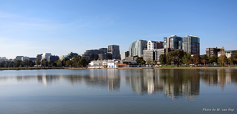 A view of Melbourne, Australia, from Albert Park