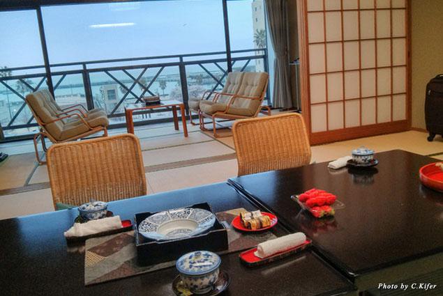 A typical ryokan guestroom