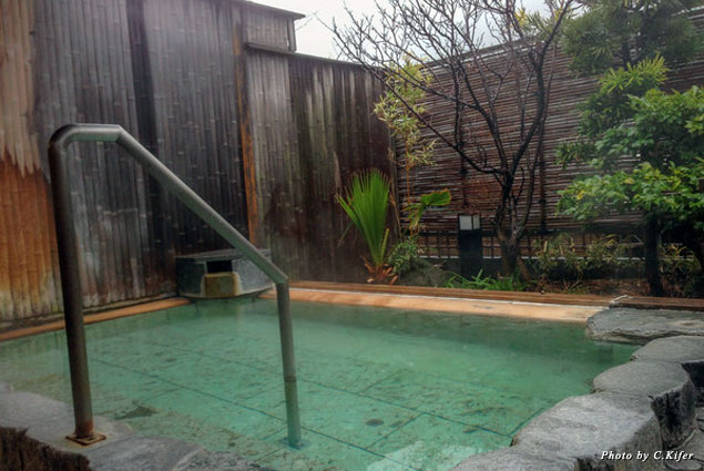 Relax in the onsen bath
