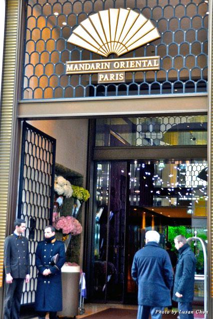 Mandarin Oriental Paris entrance on the elegant Rue Saint-Honoré