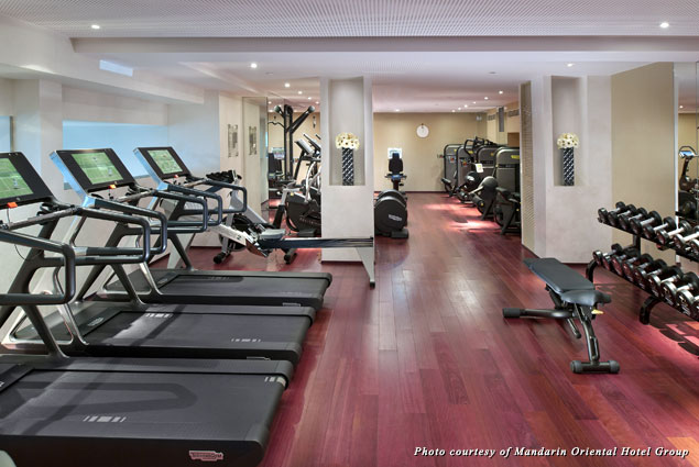 Mandarin Oriental Paris gym