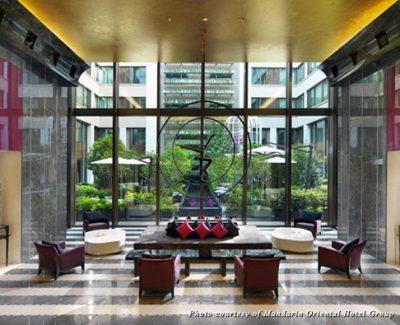 Mandarin Oriental Paris lobby atrium