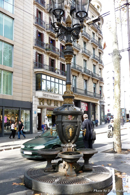 Legend has it one drink from the black and gold ornate Fountain of Canaletes ensures one day you'll return to Barcelona