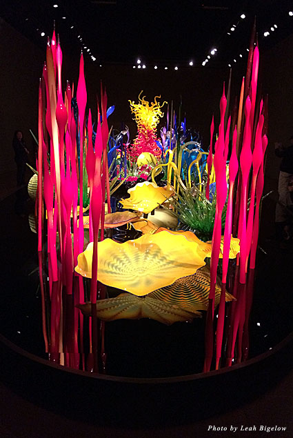 """Chihuly's """"Mille Fiori"""" is a garden of glass that includes many of his series of works"""