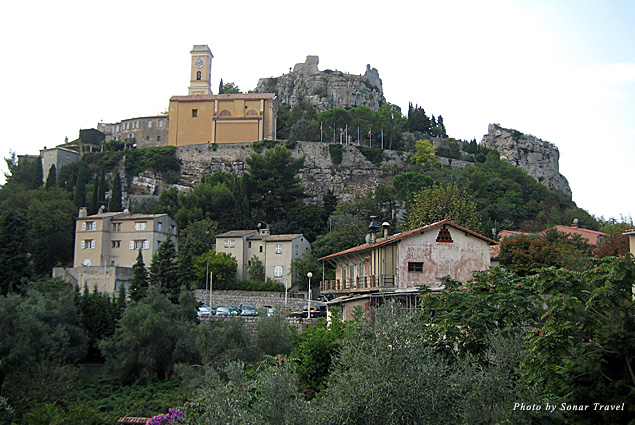 The village of Eze sits high atop a mountain just east of Nice