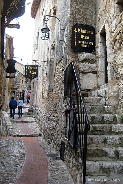 A stony walkway in the Village of Eze looks like fairy-tale fortress