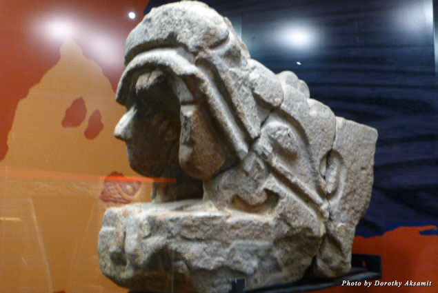 One of the many Aztec stone gods represented in the museum