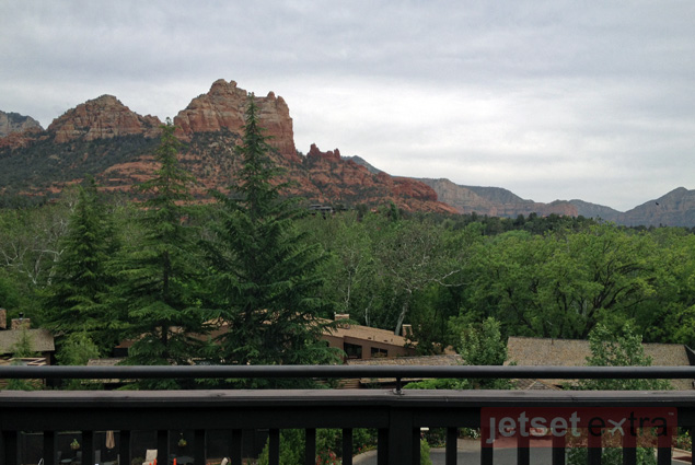 The view from my deck at L'Auberge de Sedona