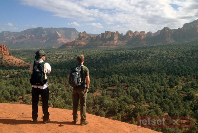 Greg and Jason of the Hike House look out over the Sedona hiking trails
