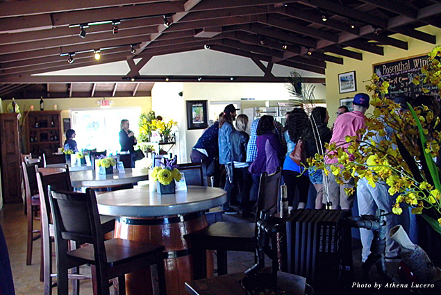 Friendly staff and restful settings create a welcoming wine tasting experience at the Rosenthal Wine Bar and Patio