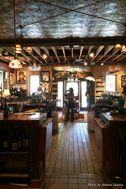The tasting room at Cornell is a combination of tasting room, boutique wine store, art gallery, and gift shop