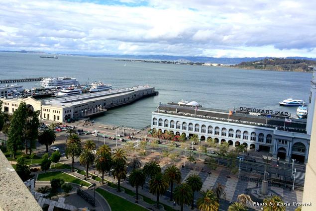 Spectacular view from the Hyatt Regency San Francisco