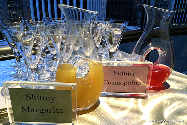 Skinny cocktails available at the Regency Club