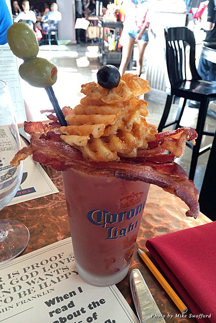 A bloody Mary with all the fixings from Todd English PUB