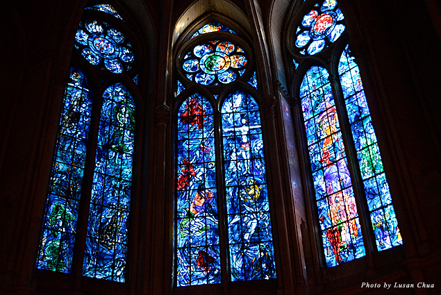 Stained glass windows by Marc Chagall