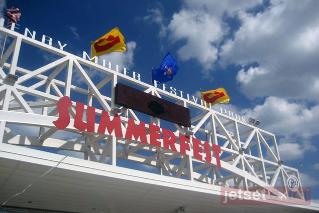 The entrance to Summerfest