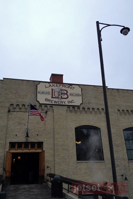 The entrance to Lakefront Brewery