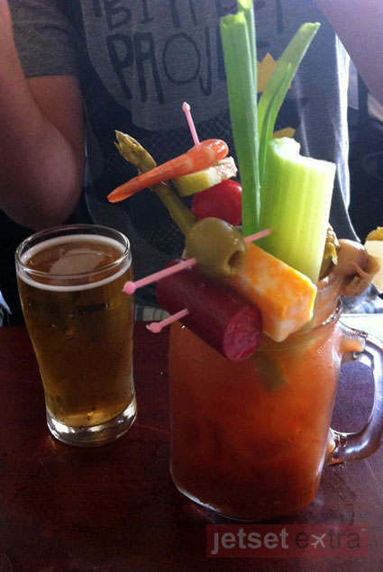 A Bloody Mary at Sobelman's