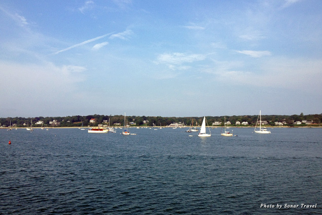 Martha's Vineyard comes into focus as you approach the island on the ferry