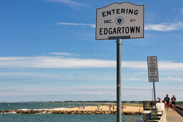 Welcome to Edgartown and the famous Jaws Bridge