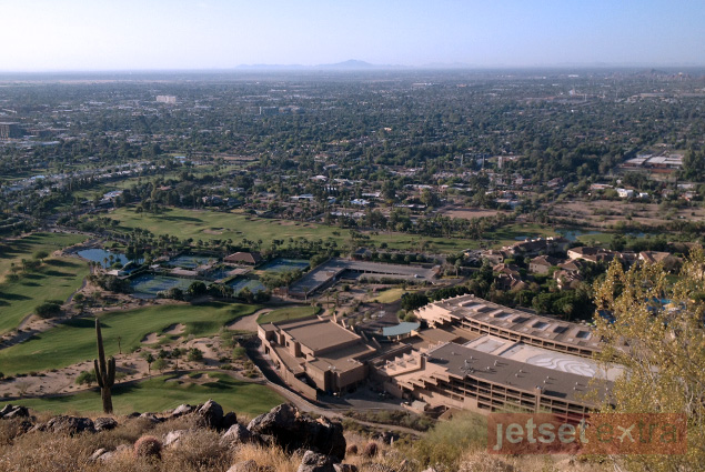 Overlooking the Phoenician and Scottsdale from atop Camelback Mountain