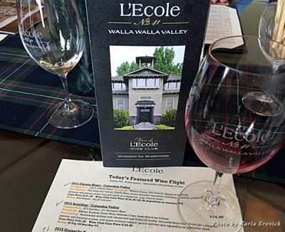 Sampling the L'Ecole No. 41 Cab
