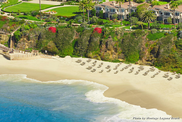 An aerial view of the Montage Laguna Beach