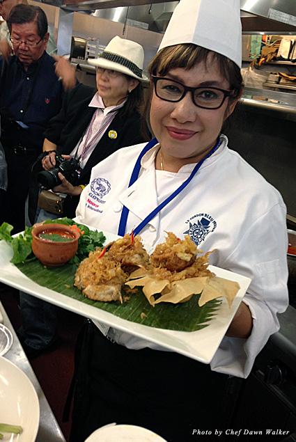 Chef Nooror presents one of her creations