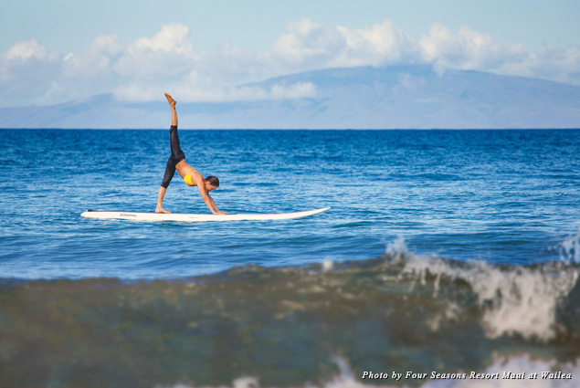 The Four Seasons introduced SUP Yoga classes in 2014