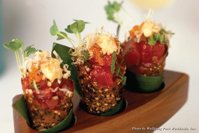 Spago's ahi tuna cones