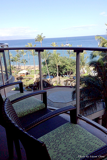 View from the lanai on the ocean-view studio