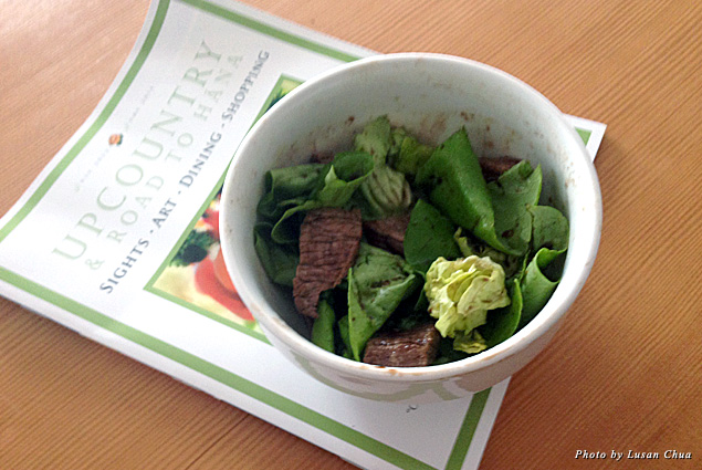 Home-cooked meal with Australian short-rib and Maui butter lettuce from Mana Foods