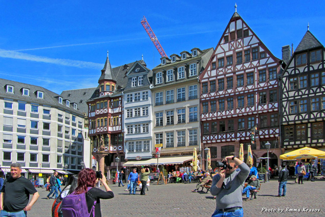 Historic Römerberg square is the old center of Frankfurt