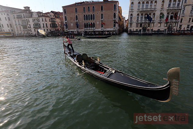 The gondolier coming to pick up Jason and Mary Anne at their hotel in Venice, Italy