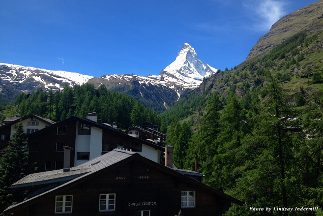 The four faces of the Matterhorn face the four cardinal directions—north, south, east, and west