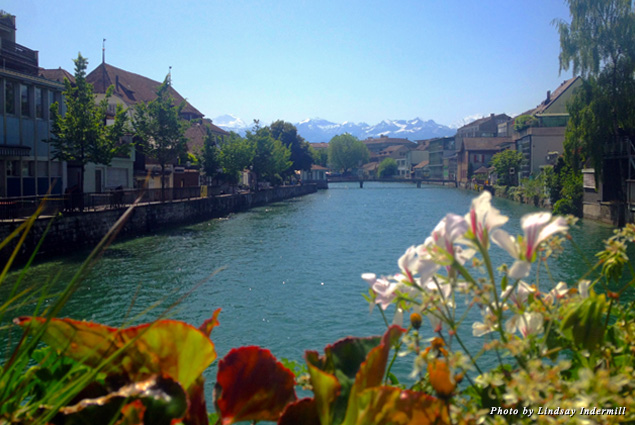 Riverfront walkways lined with flowerboxes are only the beginning of Thun's magic