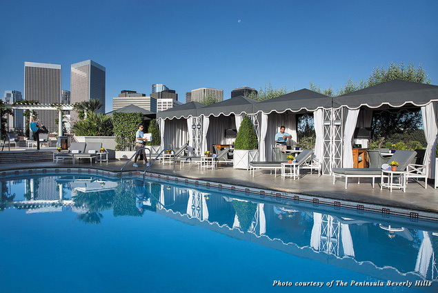 The Peninsula Beverly Hills pool