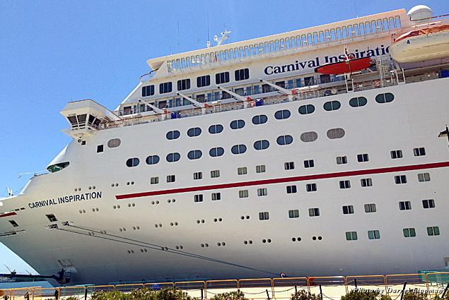 Carnival Inspiration docked in Ensenada, Mexico