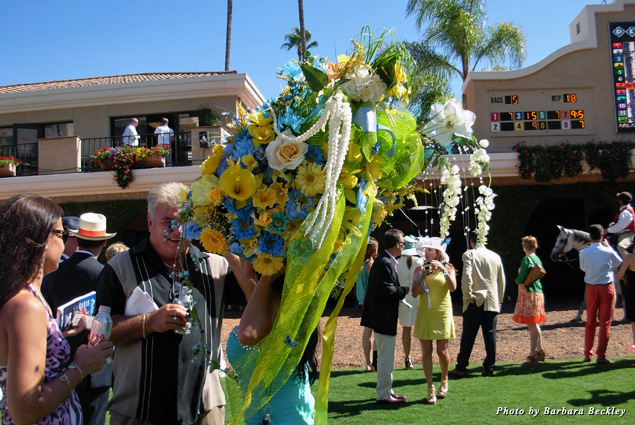 Flamboyant hats are part of the see-and-be-seen tradition on Opening Day at Del Mar