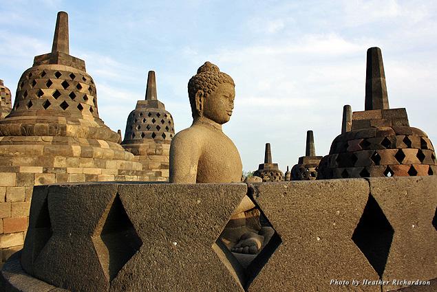 Buddha at Borobudur Temple