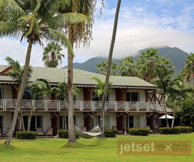 Exterior of a Four Seasons Resort Nevis cottage, which is divided into individual guest rooms