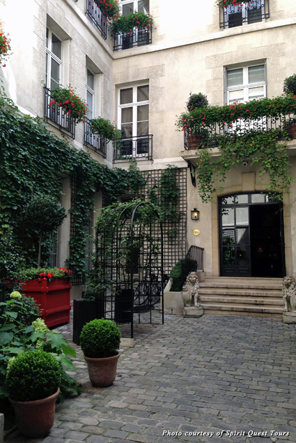Courtyard at the Relais Christine Hotel